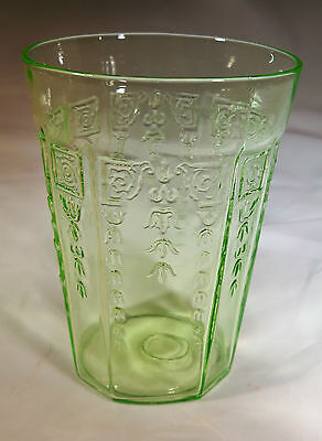 """Hocking Glass Co. Princess Green 9-Ounce 4"""" Tall Water Beverage Tumbler-Perfect!"""