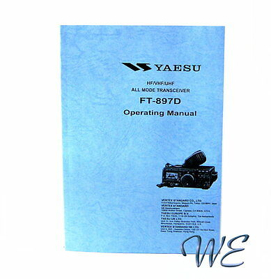 NEW Yaesu FT-897D Operating Manual Book in English