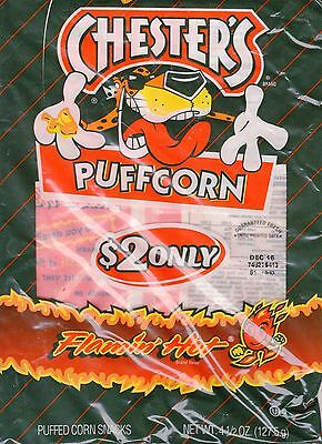 4 Bags of Chester's Flamin' Hot Puffcorn, 4.5oz Bag Flamin' Hots and NFL Games