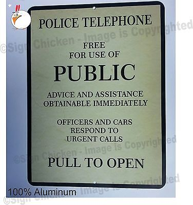 Doctor Who Tardis  Police Box Novelty Aluminum Sign, TARDIS, new