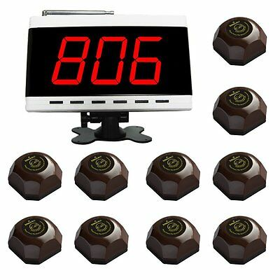 SINGCALL Wireless Customer Calling Systems Waiter 1 Display and 10 Button Bells