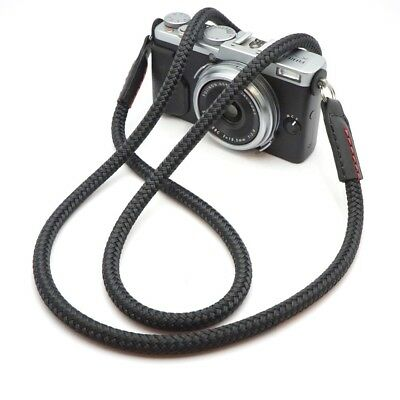 Premium Cord & Leather Camera Shoulder Neck Strap - Handmade by Cordweaver