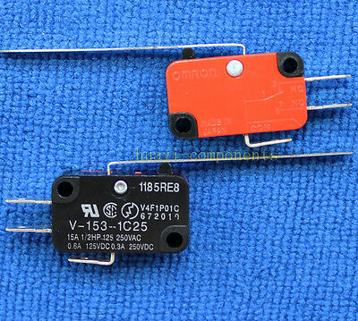 1pcs V-153-1C25 Long Straight Hinge Lever Type SPDT Micro Switch Limit Switch