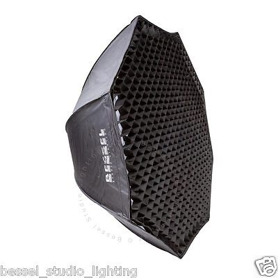 Bessel 120cm Octabox Softbox with 2 diffusers & 4cm Grid Bowens S-Fit Easy Setup