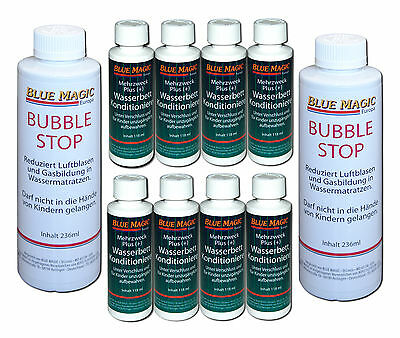 Blue Magic 2 x 236ml Bubble Stop 8 x 118ml Conditioner Wasserbetten Pflege