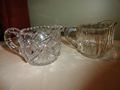 2 Beautiful Vintage Cream Pitchers - 1 May Be Cut Glass