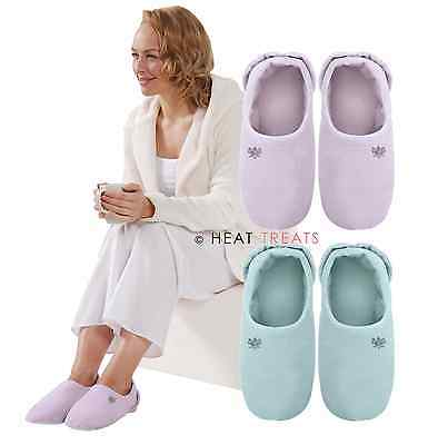 Aroma Home Soothing You Lavender Scented Microwavable Slippers: Lilac or Aqua
