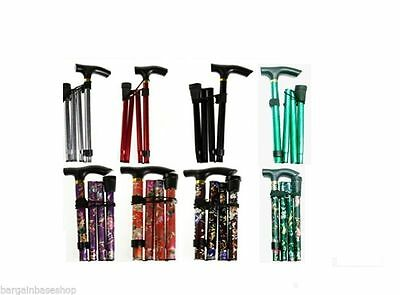 Easy Fold Walking Stick Adjustable Lightweight Aluminium Folding Walking Sticks