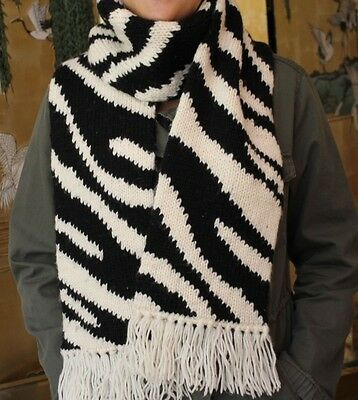 Kate Spade Hand-In-Hand Zebra Scarf AND Mitten Set - Up Your Cold Weather Style!