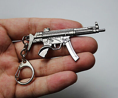 "2.4"" Cross Fire Assault Rifle Machine Gun MP5 Keys Ring CF Keychain Collection"