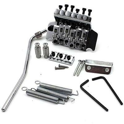 Silver Electric Guitar Chrome Double Lock Floyd Rose Special Lic Tremolo Bridge
