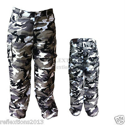 Motorcycle Grey Camo Protection Motorbike Rider Pant Jeans with CE Protection