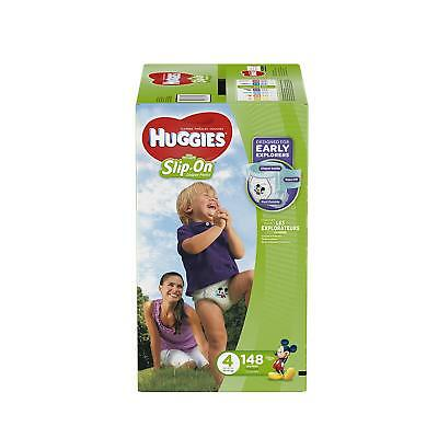 Huggies Little Movers Slip-On Diaper Pants, Size 4, 148 Count , New, Free Shippi