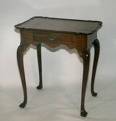 Antique Pennsylvania Chippendale Walnut Tea Table, w/Dish Shaped Top