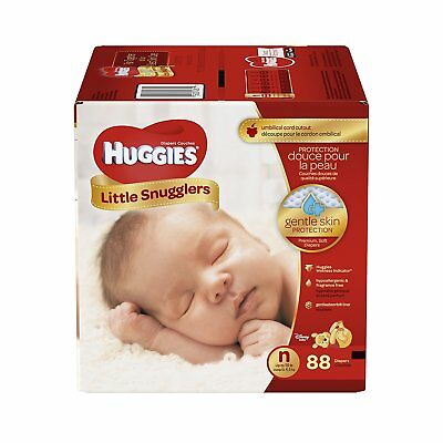 Huggies Little Snugglers Diapers, Newborn, 88 Count (Packaging May Vary) , New,
