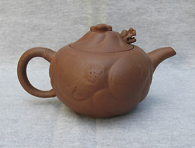 Chinese Yixing Dragon Teapot  宜 興 Zisha Clay, 19th/ 20thC Fine Chinese Antique