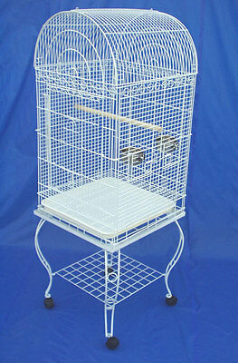 NEW Parrot Budgie Lovebird Cockatiel Bird Cage  #0104 White or #0103 Black 628
