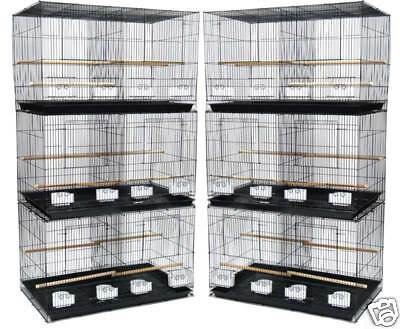 Lot of 6 Aviary Bird Cage 24x16x16 With Divider--2433-812