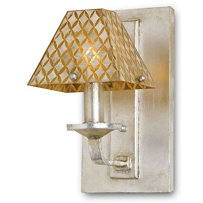 Julia Rose Contemporary Silver Leaf/Capiz Shell Wall Sconce