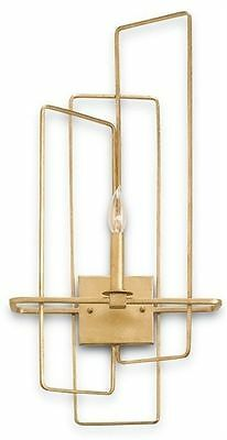 Metro Contemporary Gold Leaf Right Wall Sconce