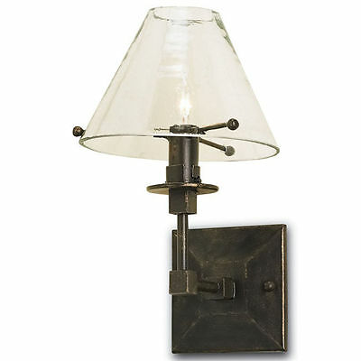 Kiran Frosted Bronze Gold/Glass Mid-Century Wall Sconce