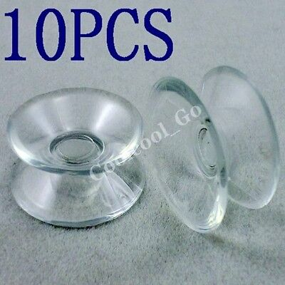 10x Clear PVC Strong Double Sided Suction Cups Pad Sucker 20mm New