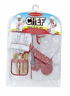 Melissa and Doug Chef Role Play Costume Set , New, Free Shipping
