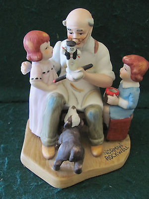 """1982 LIMITED EDITION BISQUE FIGURINE """"THE TOYMAKER"""" NORMAN ROCKWELL"""