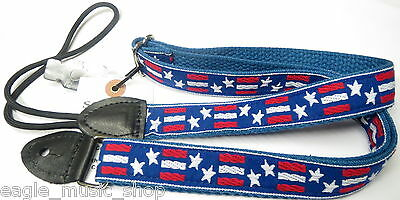 Mandolin Strap Stars & Stripe by Souldier Made in Chicago Red, White & Blue