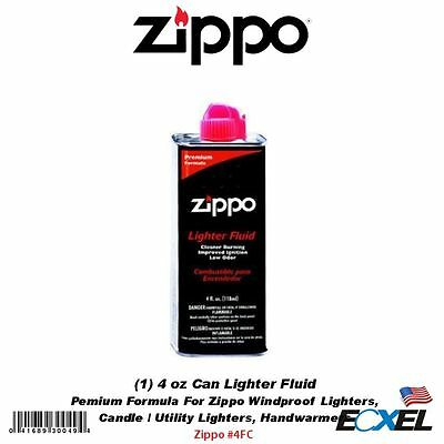 Zippo #4FC 4 oz Can Fuel Fluid, For: All Zippo Pocket Lighters 3141