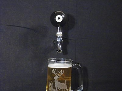 8-BALL BEER KEG TAP HANDLE KEGERATOR EIGHTBALL. FREE PRIORITY SHIPPING