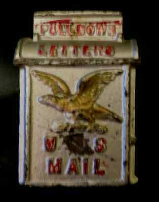 VINTAGE 1900's CAST IRON U.S. MAIL BOX COIN BANK with AMERICAN EAGLE