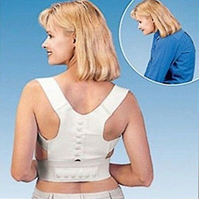 Magnetic Posture Support Corrector Back Pain Feel Young Belt Brace Female
