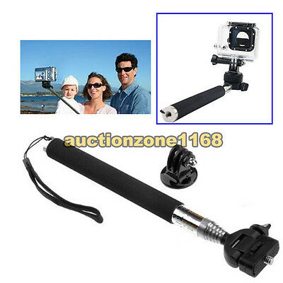Selfie Extendable Monopod Tripod Mount Accessories For GoPro 1 2 3 3+ 4 Camera