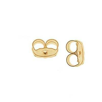 Solid Real 14k Yellow Gold Push Back Earring Butterfly Backs Small Medium Large