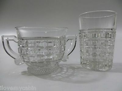 Heisey VICTORIAN CLEAR Open Sugar and Juice Tumbler Glass Elegant Crystal