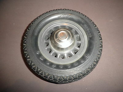 1940's ANTIQUE INKWELL FIRESTONE RACE CAR RUBBER TIRE WHEEL RARE ADVERTISING