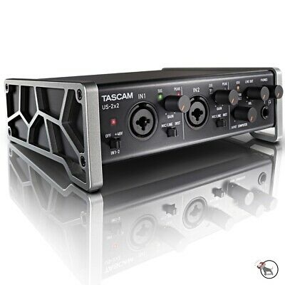 Tascam US-2X2 USB 2-in 2-Out Audio/MIDI Recording Ableton Live Lite Interface