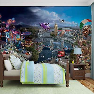 WALL MURAL PHOTO WALLPAPER PICTURE (4-012P) Disney Cars Boys Childrens Bedroom