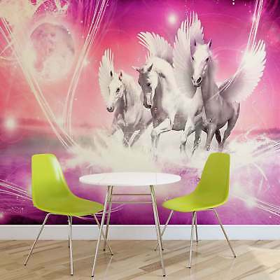 WALL MURAL PHOTO WALLPAPER PICTURE (589P) Horses Girls Bedroom