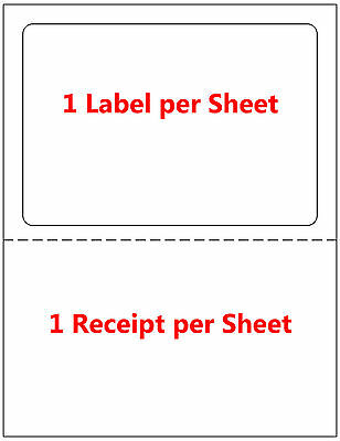 1000 Labels Adhesive Tear off Paper Receipt. Best for Ebay / Paypal Label UPS