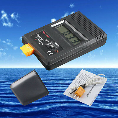 TM-902C Type K Digital LCD Thermometer Thermodetector Meter + Thermocouple Probe