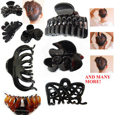 Hair Claw Clip Women Butterfly Clamp Clips Catcher Scrunchy Salon Strong Up Hold