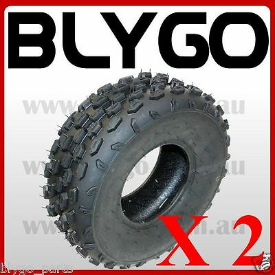 """2X QIND 4PLY 19 X 7 - 8"""" inch Front Knobby Tyre Tire Quad Dirt Bike ATV Buggy"""