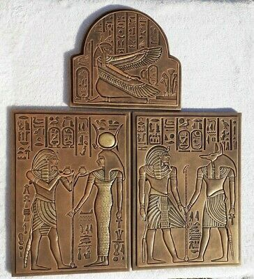 three reliefs- Egypt,gold,wall hanging wall art