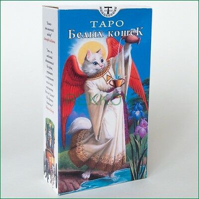 NEW Tarot of White Cats High Quality 78 Cards Deck Таро Белых Кошек Russian Edit