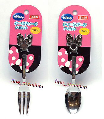 Japan Made Disney Minnie Mouse Cutlery Stainless Steel Fork and Spoon SET