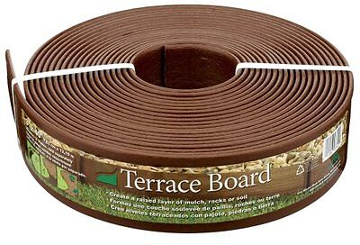 NEW Install Plastics Terrace Board Landscape Edging Coil 3-Inch X 40-Foot Brown