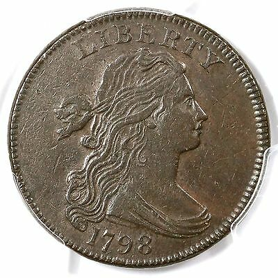 1798 S-157 PCGS XF 1st Hair Style Draped Bust Large Cent Coin 1c