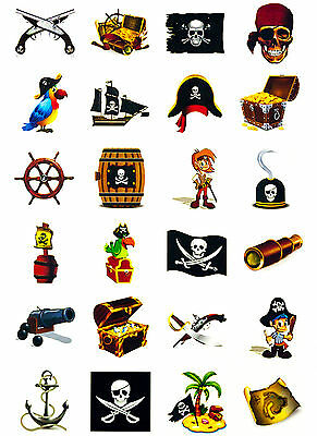Piraten Tattoo Set 24 oder 48 Kinder Tattoos Motive Kinder Spielen Pirat
